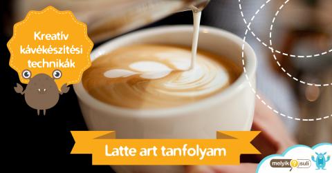 Latte Art tanfolyammal bővült a melyiksuli.hu kínálata